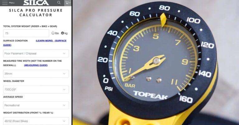 Deze calculator geeft je altijd de juiste bandenspanning voor je racefiets