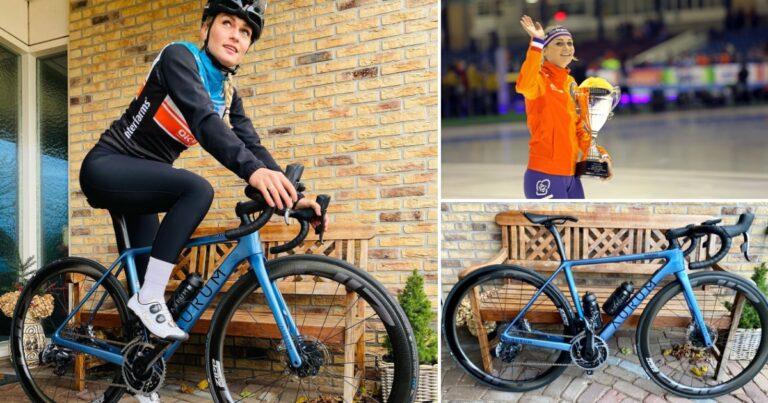 Alberto Contador strikt topschaatser Irene Schouten voor zijn nieuwe fietsenmerk Aurum