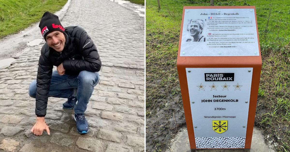 John Degenkolb kasseistrook Roubaix