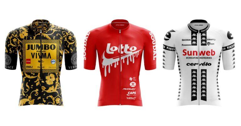 Belgische designer geeft peloton makeover en pimpt 22 wielershirts
