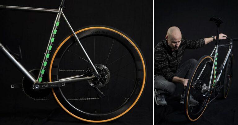 De nieuwe fiets van Tom Boonen is van staal en heeft een naafversnelling