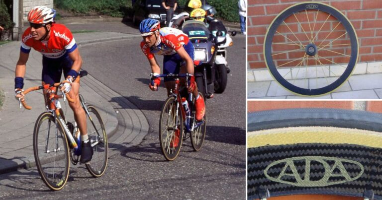 Topmateriaal van toen: de vederlichte ADA wielen van Frank Vandenbroucke
