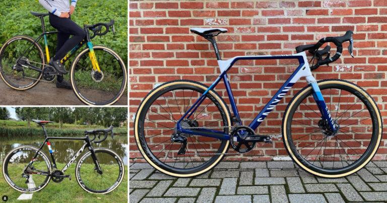 De 4 verschillende fietsen van de 6 wereldkampioenen veldrijden